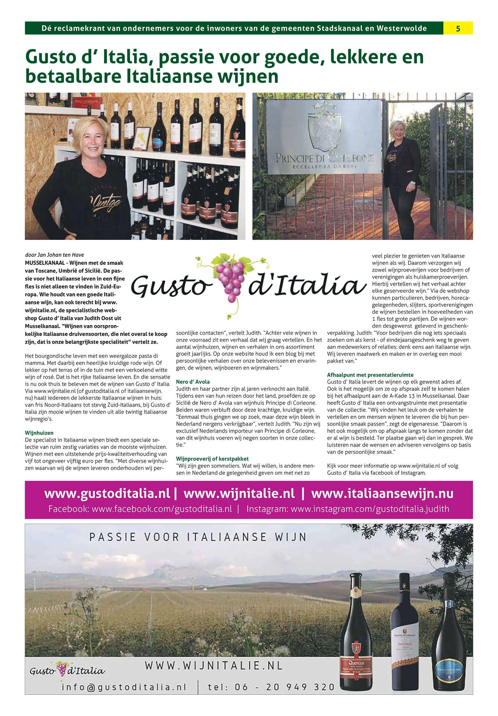 Regiomagazine Gusto d'Italia
