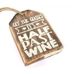 Hanger label 9 cm half past...