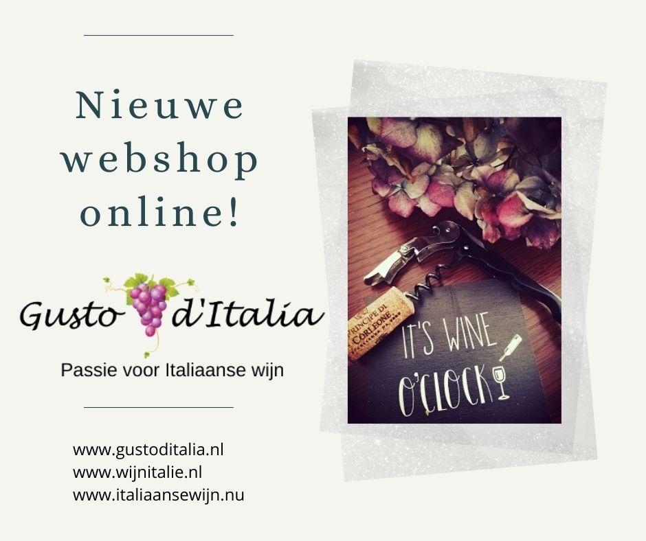 Nieuwe webshop Gusto d'Italia